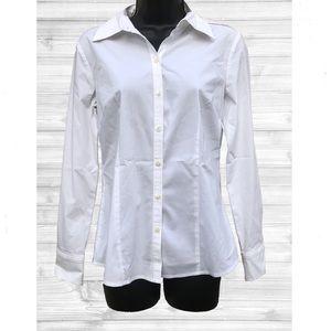 🚨10/$20🚨 Ann Taylor LOFT   White Button Blouse